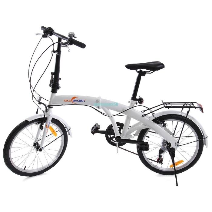 """bicicletta pieghevole ruota 20"""" folding bike 6 velocita' per Adulti e bambini"""