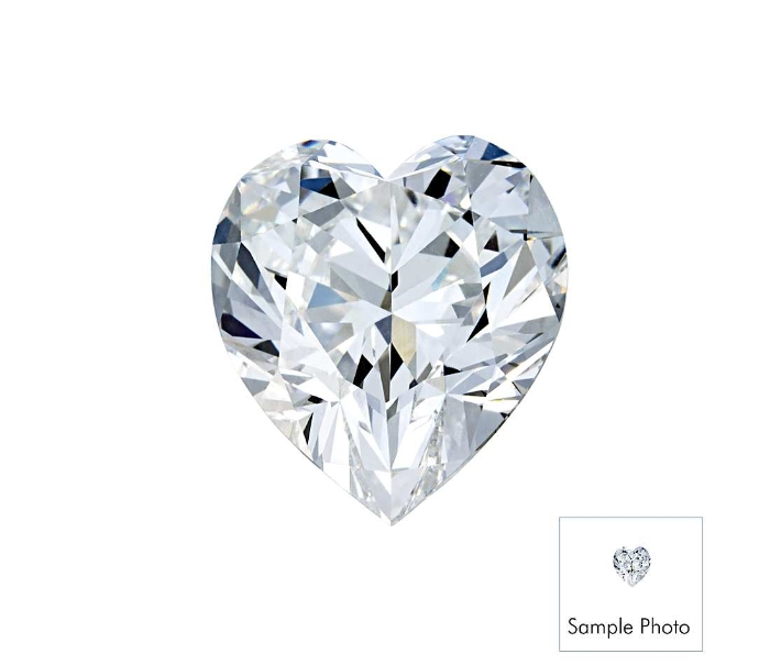 0,38 carat diamond hearth