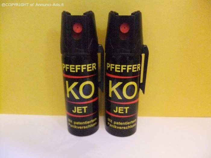 Pepper JET KO-SPRAY --- KO 2x 50 ML Pepper JET peperoncino gaz