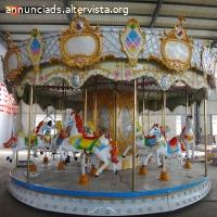 Prezzo di fabbrica 16 posti giostre carosello di cavalli meccanico utilizzato per bambini giochi di carnevale per la vendita