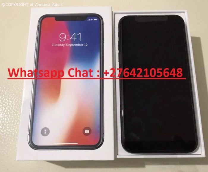 Apple iPhone X 64GB per 400  EUR e  iPhone X 256GB = 450 EUR