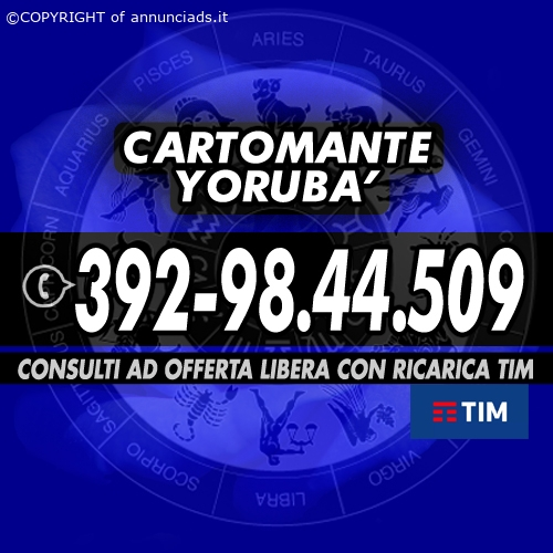Cartomante al telefono - Cartomante YORUBA'