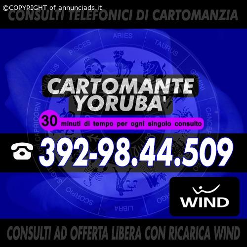 | Cartomante YORUBA' | Consulti telefonici | Cartomante Sensitivo |